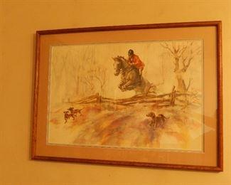 Original Watercolor by Marty Pray Stanard (Jumping Horse)