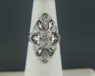 Art Deco Filigree Rings
