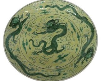 19th Century (or older) Chinese Dragon Bowl.