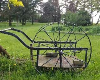 Antique milk cart.