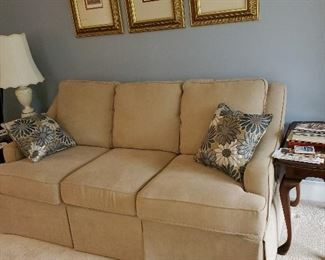 A firm seated sofa, only 6 years old.