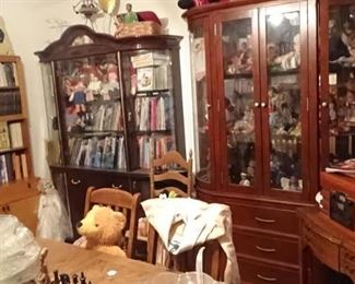 22 CHINA CABINETS FULL ANTIQUES