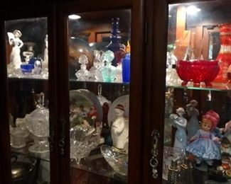 TONS GLASS FIGURINES AND CRYSTAL