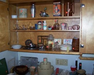 A VIEW OF KITCHEN SHELVES