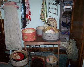 OLD HATS & HAT BOXES