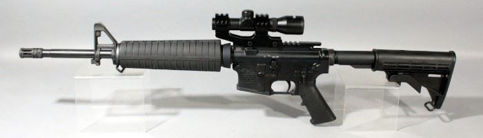Anderson Manufacturing Model AM-15 5.56 NATO Rifle SN# 16189281 With 40 Round Mag And Tasco 2.5x20 Scope