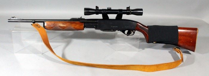 Remington Gamemaster Model 760 Carbine .308 WIN Rifle SN# 391585 With Scope, Elastic Bandelier And Sling