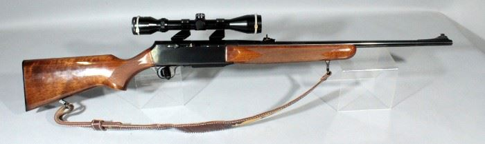 Belgium Browning Bar 30-06 Rifle SN# 137PV13322 With Simmons 3X-9X40 Scope And Leather Sling