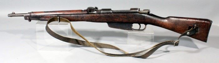 C.A.I. M91 Italian Carcano 6.5 x 52mm Bolt Action Rifle SN# A06499 With Leather Sling