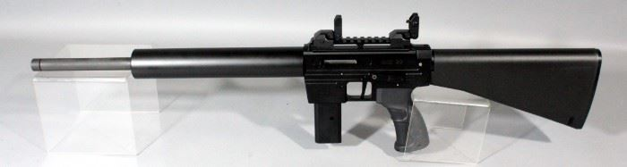Rock Island Armory MIG 22 .22LR Rifle SN# P00715 With 15 Round Mag, Solid Barrel Shroud And Flip-Up Sights