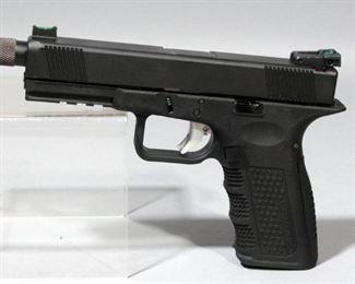 Lone Wolf LW 22/17 .40 Converted to 9mm Custom Competition Pistol SN# AAD 505, Dawson Fiber Optics