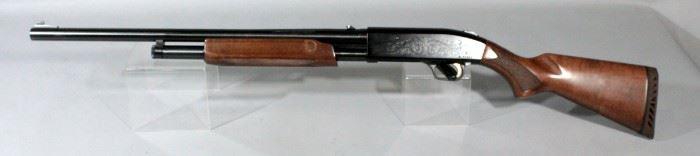 Mossberg 12 Ga. Pump Action Shotgun SN# P172903 Includes Additional Ribbed Barrel, Scroll Decorated, Pump Clip