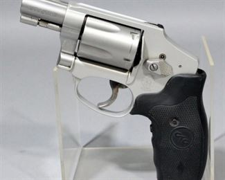 Smith & Wesson AirWeight 642-2 .38 Special S&W 5-Shot Hammerless Revolver SN# CFZ8717 With Crimson Trace Grip, Original Grips, Hard Case And Paperwork