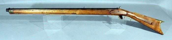 "Unmarked Black Powder Rifle, 35.5"" Barrel, Brass Accents"