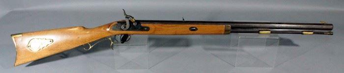 "CVA Hawken .50 Cal Black Powder Rifle, SN# 734475, 28"" Octagon Barrel, Double Trigger, Brass Accents"