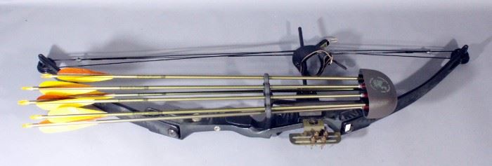 Jennings Bear Black Lightning Compound Bow, Quiver And Arrows