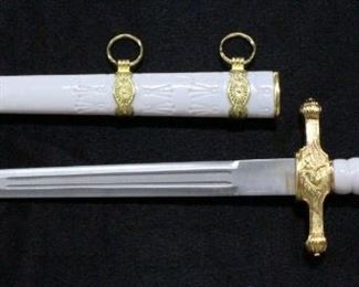 """TomaHawk Xl1124 Kings Middle Ages White Dagger 13.75""""OL With Sheath"""