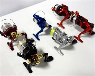 Assorted Fishing Reels Including Shakespeare, Diwa, Genesis And Ready 2 Fish, Qty. 6