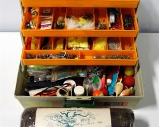 Rebel 600 Tackle Box With Lures, Hooks And More And Shurkatch Minnow Seine 4x12