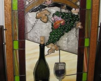 three dimensional stained glass framed
