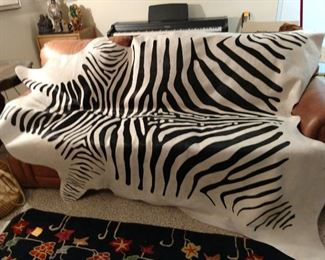 Cowhide with Zebra Print