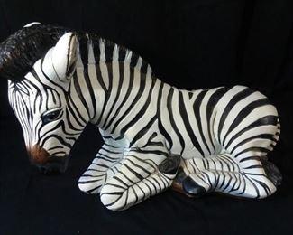 Large Metal Zebra