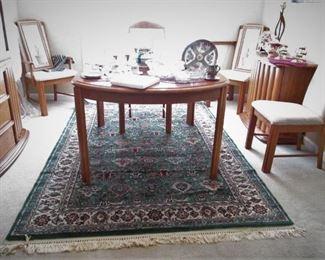 Dining Table & Six Chairs...Karastan Rug...