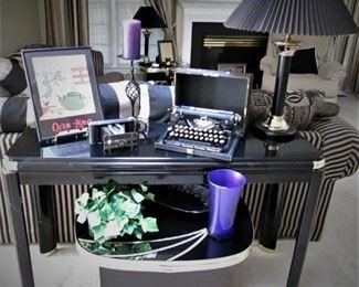 Vintage Typewriter...Camera...Sofa Table...Side Table