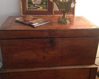 Handsome antique chest with base