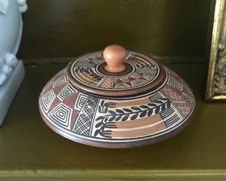 A wonderful Peruvian lidded jar