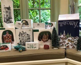 Department 56 Christmas village pieces