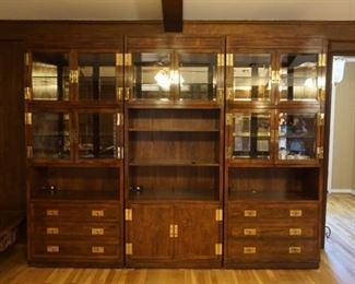 3 Piece Henredon Bookcase / Curio