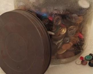 Lots of antique buttons