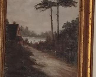 Beautiful sign oil. Circa 1890s. - 1900