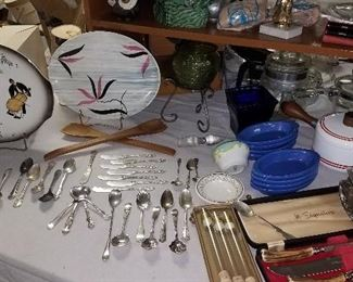 Sterling and silver plate