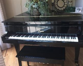 Beautiful Grand Piano by Boston.   Designed by Steinway.  #156.  The smallest grand they make.   Hard to find and in amazing condition.