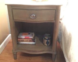 Restoration Hardware night stand in antique gray.