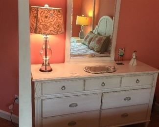 Ethan Allen double dresser and mirror.