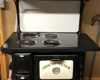 Vintage Country Charm electric stove