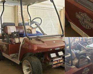 golf cart by Harley Davidson