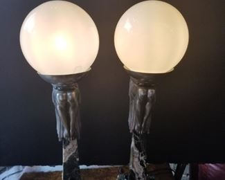 Art Deco Style Lamps from the 1950's
