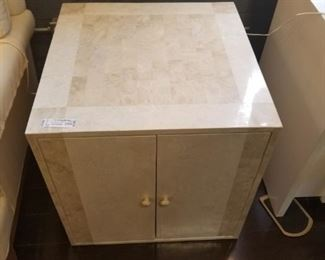 Faux Marble Cabinet/Side Table