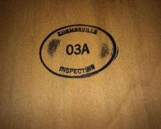 Thomasville stamp on table