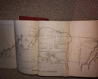 Illustrated map of TN FROM inside cover of History of Tennessee