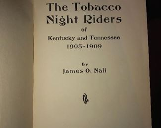 The Tobacco Night Riders of KY and TN, 1939