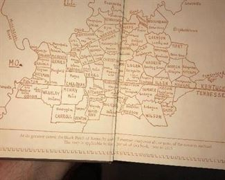 The Tobacco Night Riders of KY and TN, 1939, map of the Dark Patch area