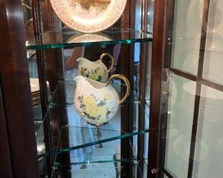 Gorham gold band with filigreed rim wildlife plates