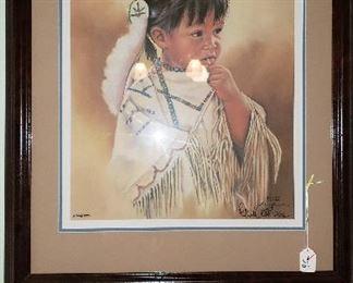 Native American framed art