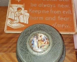 prayer plaque, music box