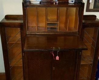 secretary with side shelves